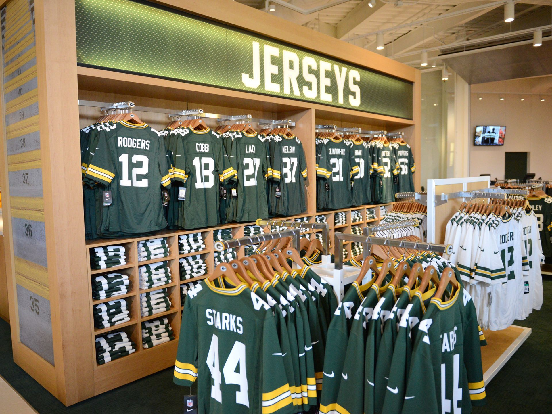 the new expanded packers pro shop at lambeau field holds an employee shopping event wednesday