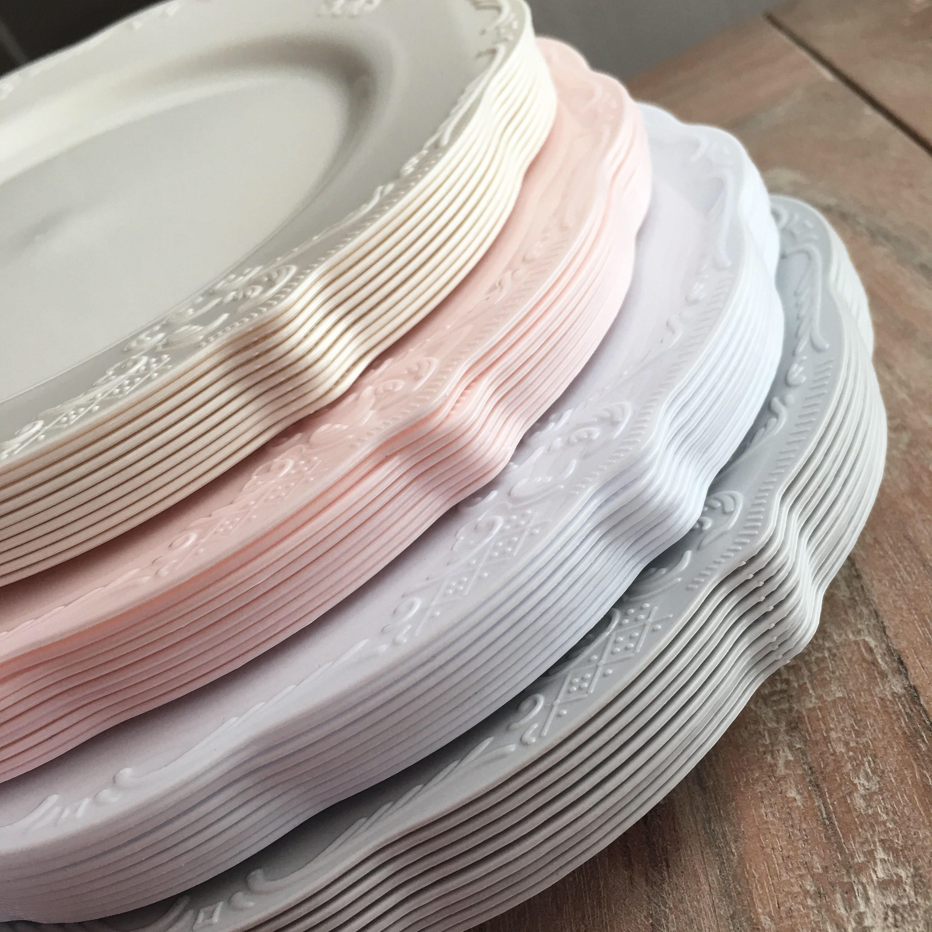 Romantically Modern Vintage Party Plates. Disposable