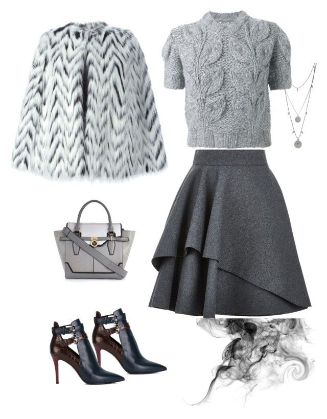 """""""Untitled #74"""" by is-tanja-ti on Polyvore featuring Alexander McQueen, Maison Margiela, Fendi, River Island, MICHAEL Michael Kors and Vince Camuto"""