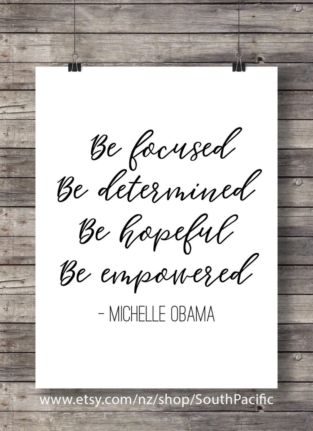 Be Focused Be Determined Be Hopeful Be Empowered