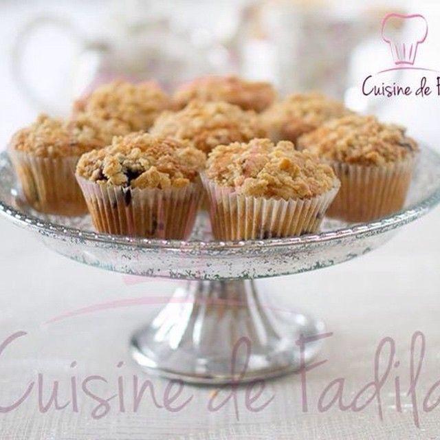 Muffins aux myrtilles et au streusel #muffins #myrtille #streusel #cuisine #teatime #muffin #cuisine