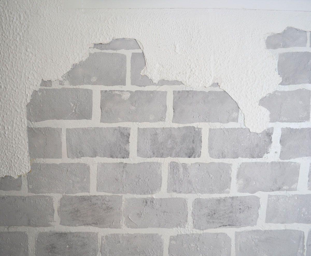 Dos maneras de pintar una pared con efecto ladrillo una for Pared imitacion ladrillo