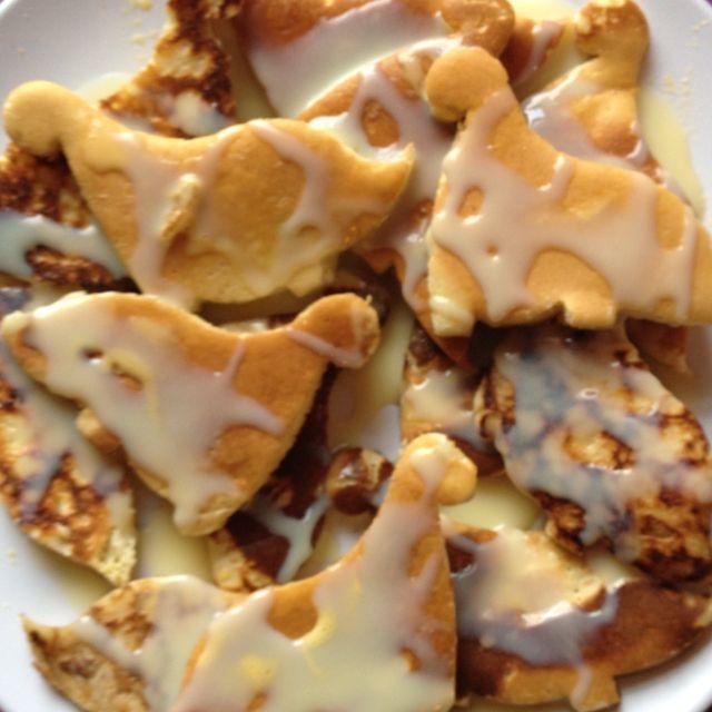 Dinosaur Pancakes(: Roaaar!!