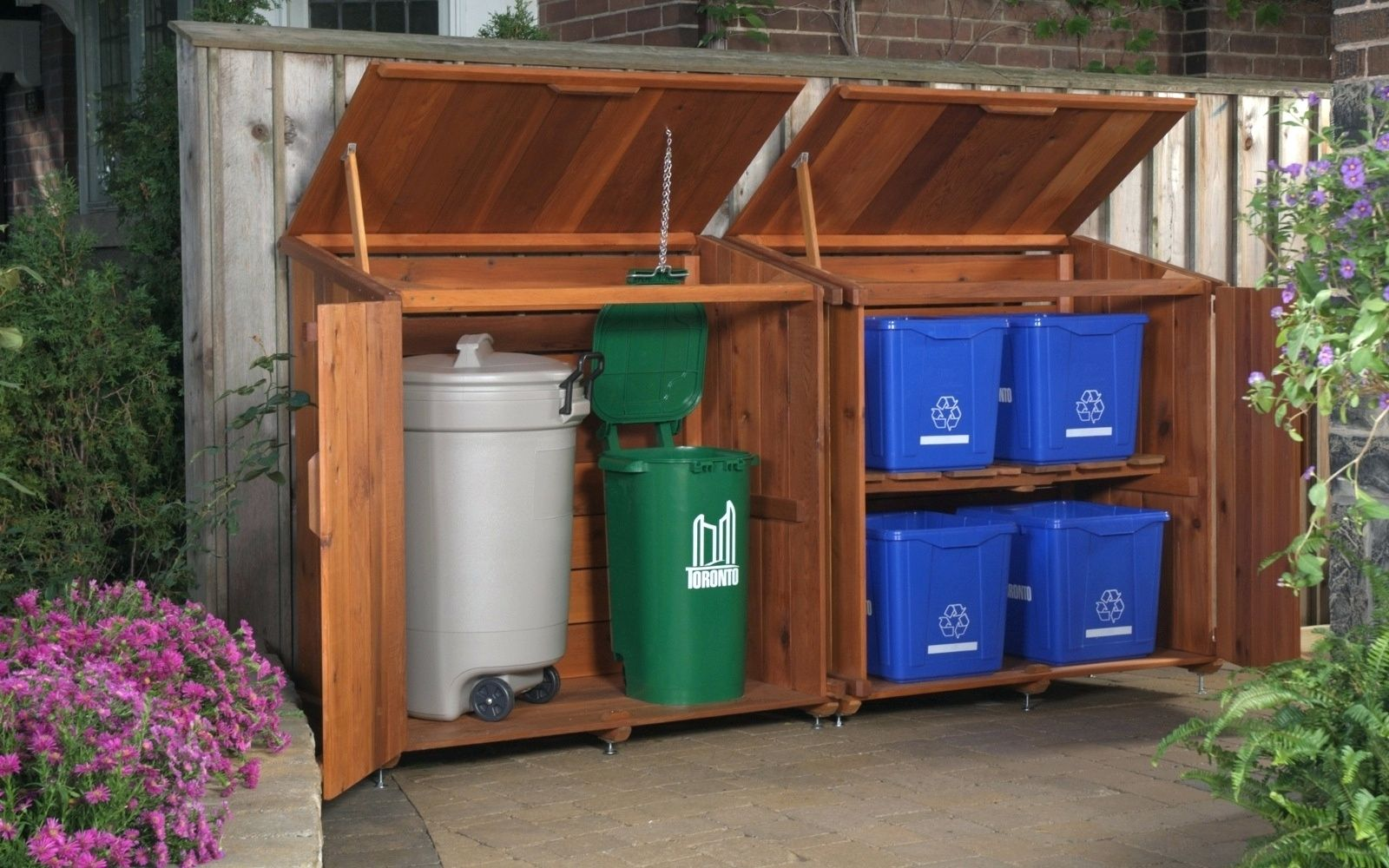 Outdoor Recycling And Trash Storage Solution Might Depend On What