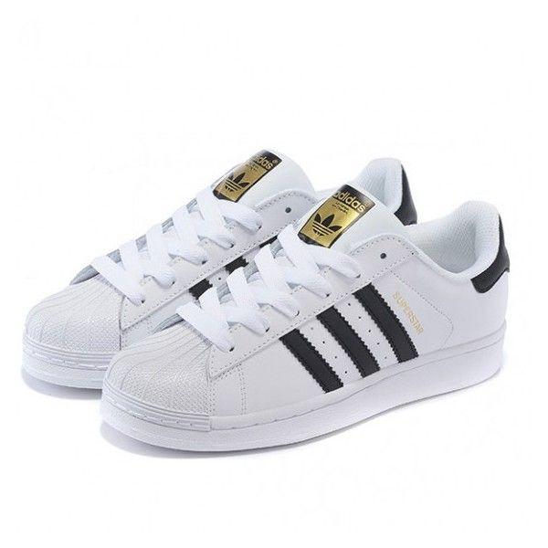 adidas superstar gold white black
