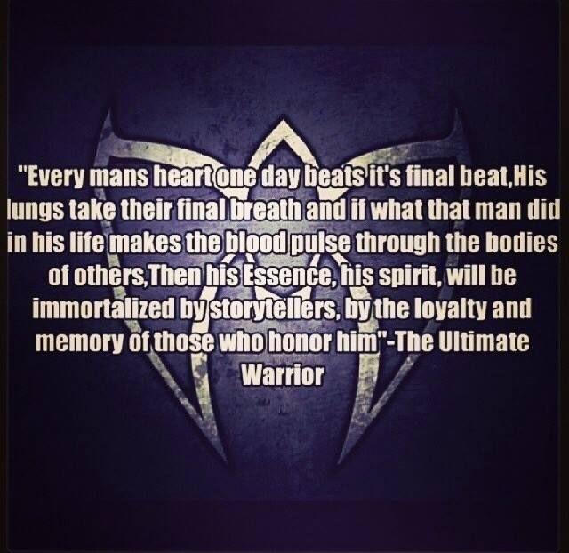 Ultimate Warrior | Wrestlers | Warrior quotes, Very best ...