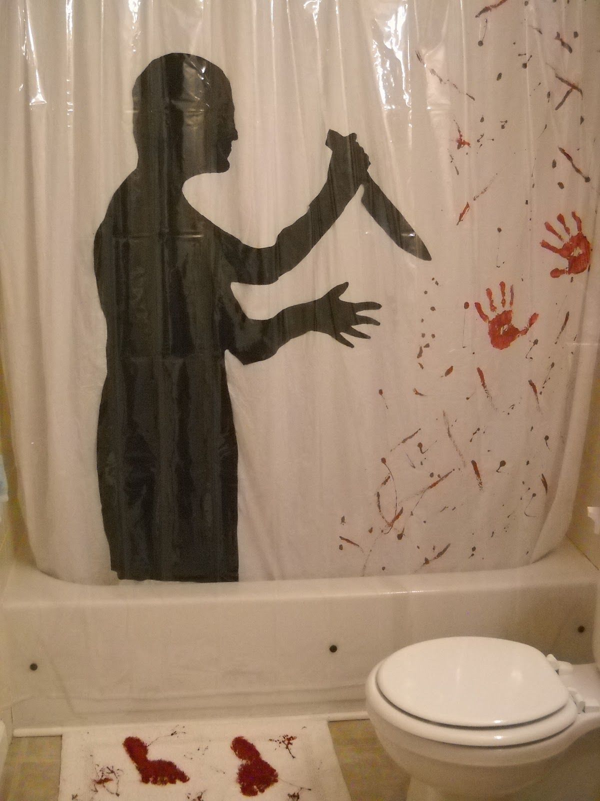 Psycho Inspired Shower Curtain