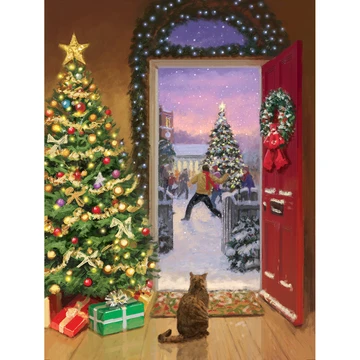 5d Diamond Painting Christmas Tree House Cat Paint With Diamonds Art Crystal Craft Decor In 2020 Christmas Tree Painting Christmas Crafts For Gifts Diamond Painting