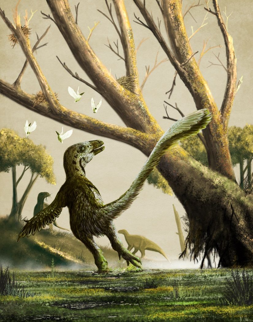 aspacelobster:  Deinonychus: Deadly. Savage. Clumsy. by Mark Witton