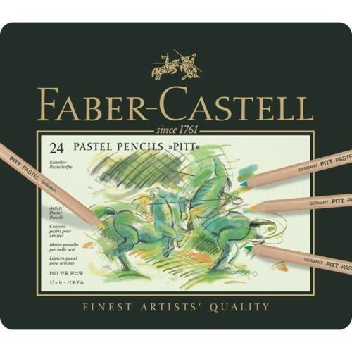 Faber Castell Colour Pencil Pitt Pastel Tin Of 24 691166159499