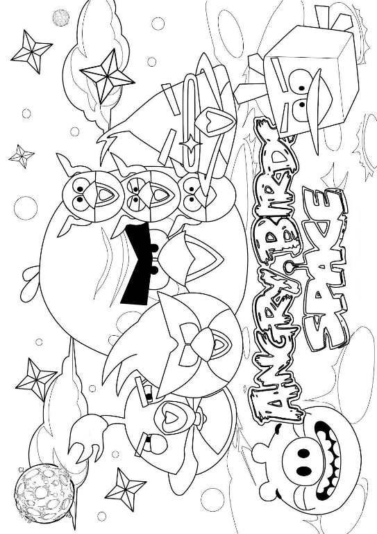 Coloring Page Angry Birds Space Kids N Fun