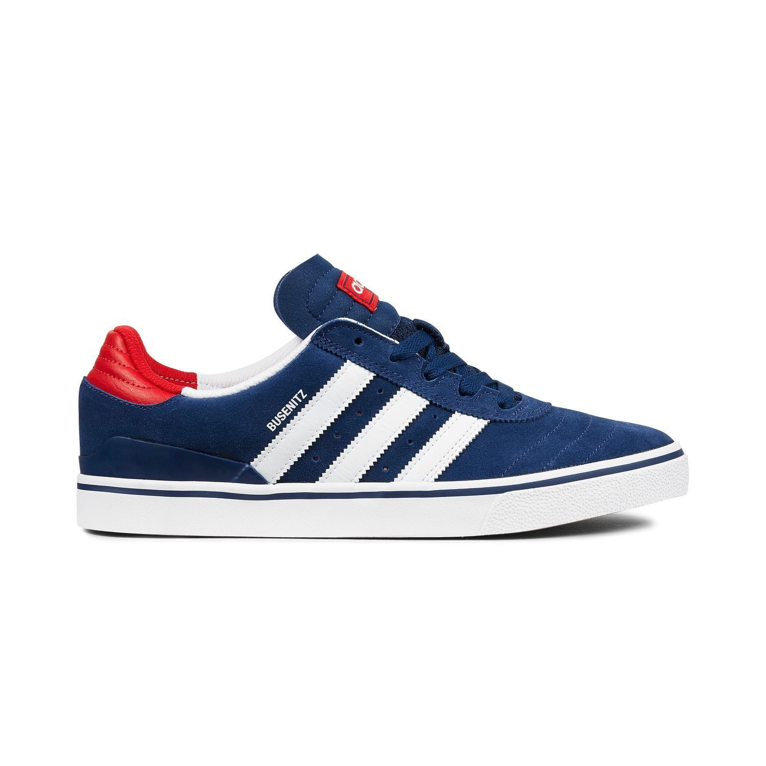 half off d2b21 155be Adidas Busenitz Vulc Adv Shoes - Mystery Blue White Scarlet