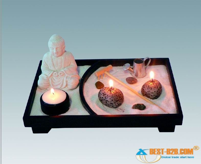mini buddha zen garden greenhouse zen garten mini zen. Black Bedroom Furniture Sets. Home Design Ideas