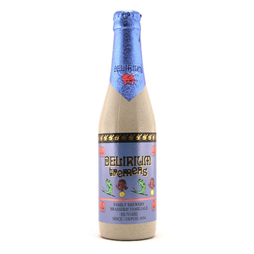 Delirium Tremens 33cl Delirium Tremens is a blond beer by Brewery Huyghe. It is a top fermentation beer with a bright yellow color, nice carbonation and a thin, but stable head. It has a mainly malty flavor, with hints of spices and a slightly dry aftertaste.