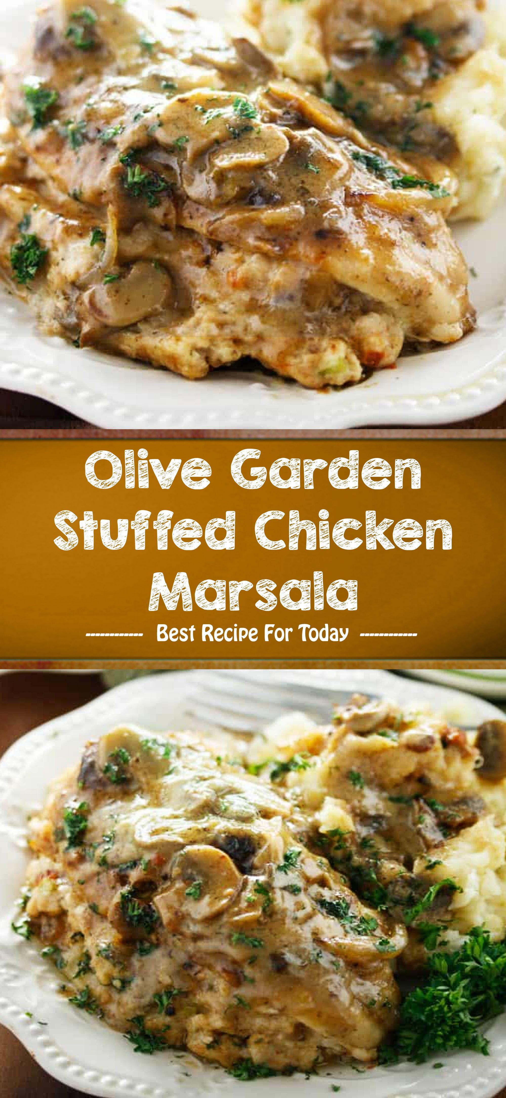 Olive Garden Stuffed Chicken Marsala In 2020 Grilled Chicken Recipes Chicken Recipes Chicken Crockpot Recipes