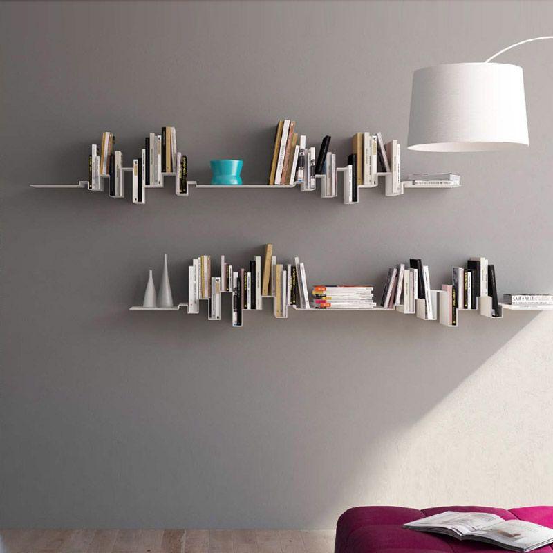 AicoÉtagère livres murale et pour Etagere Ondule Skyline eWH9YEDI2