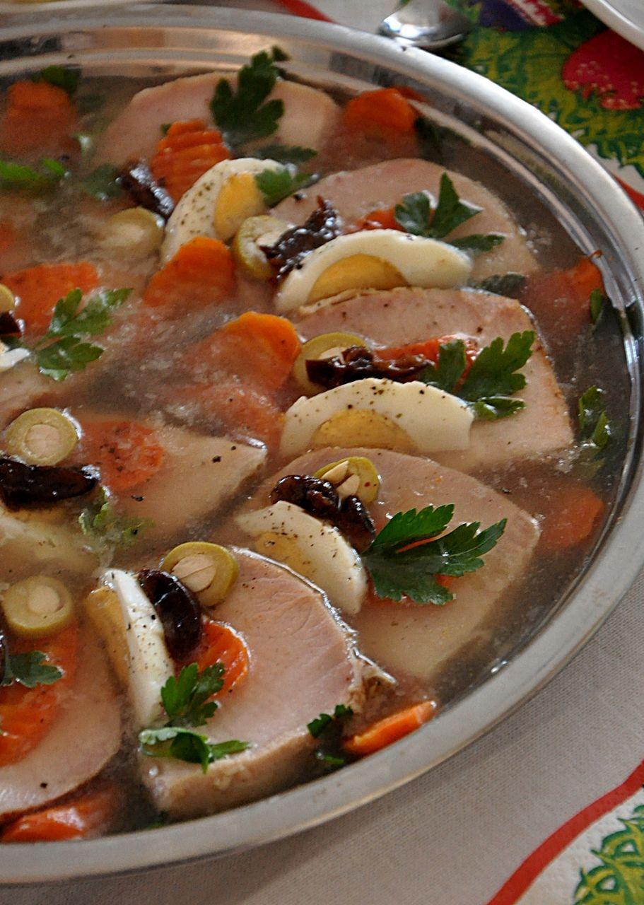 Przepis Na Schab W Galarecie Damsko Meskie Spojrzenie Na Kuchnie Cooking Meat Dinners Pork Recipes