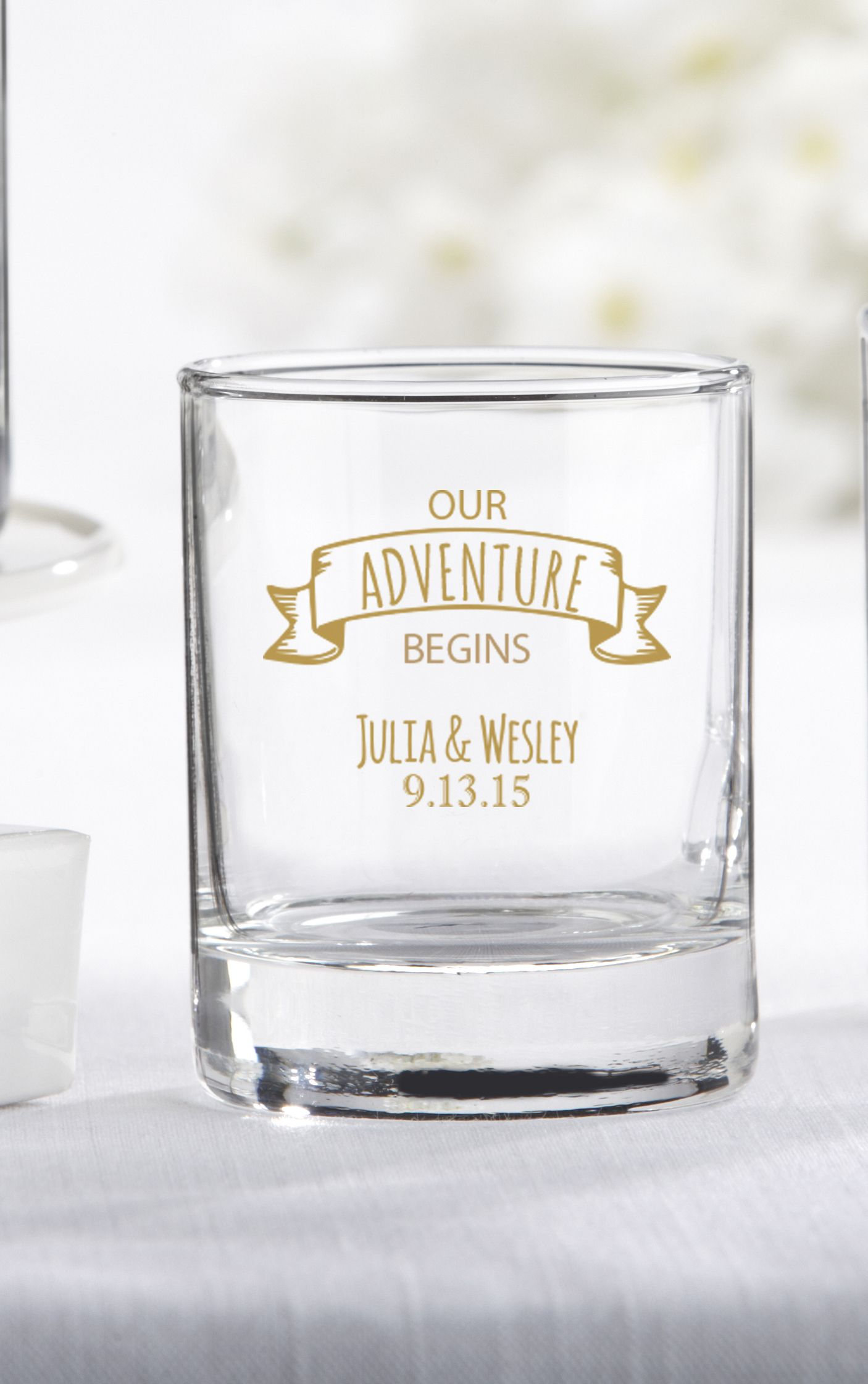 Personalized Travel and Adventure Shot Glass/Votive Holder | Glass ...