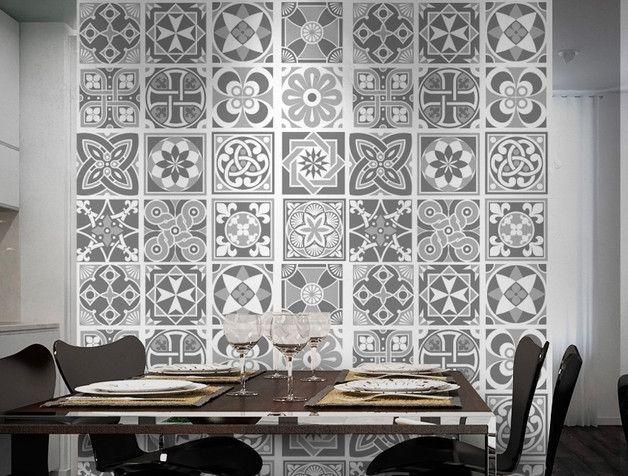 Naklejki Na Plytki Skala Szarosci Naklejki Na Plytki Ceramiczne W Latwy Sposob Odmienia Wyglad Twojej Kuchni Lub Lazienki Tile Decals Stair Decals Tile Floor
