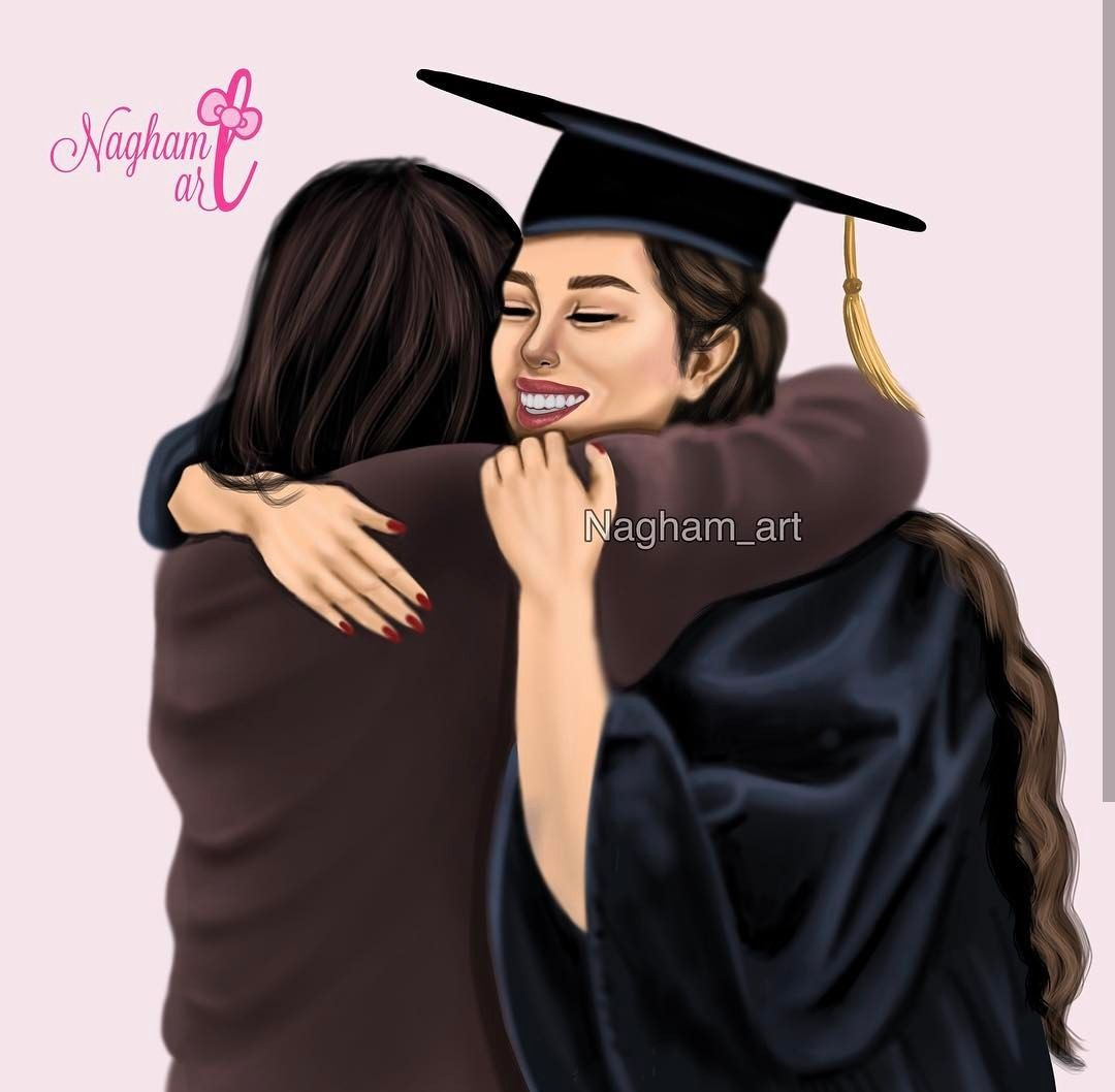 Pin By Its Mine On ٩skitch Mother Daughter Art Beautiful Girl Drawing Graduation Picture Poses