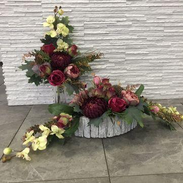 Stroik Na Grob Kompozycja Bukiet Flower Arrangements Floral Arrangements Artificial Flowers