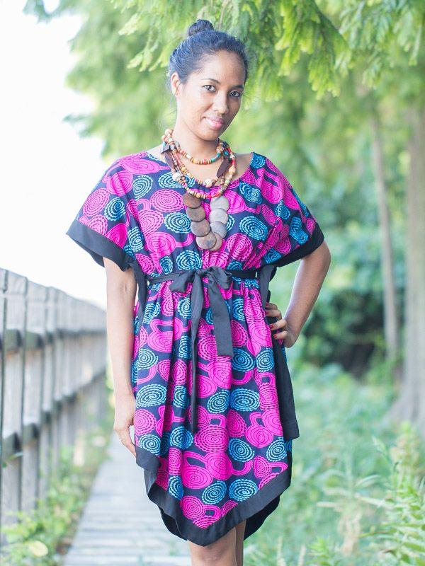 robe courte coupe moderne en wax africain pagne inspir e boubou cd006 mode wax pinterest. Black Bedroom Furniture Sets. Home Design Ideas