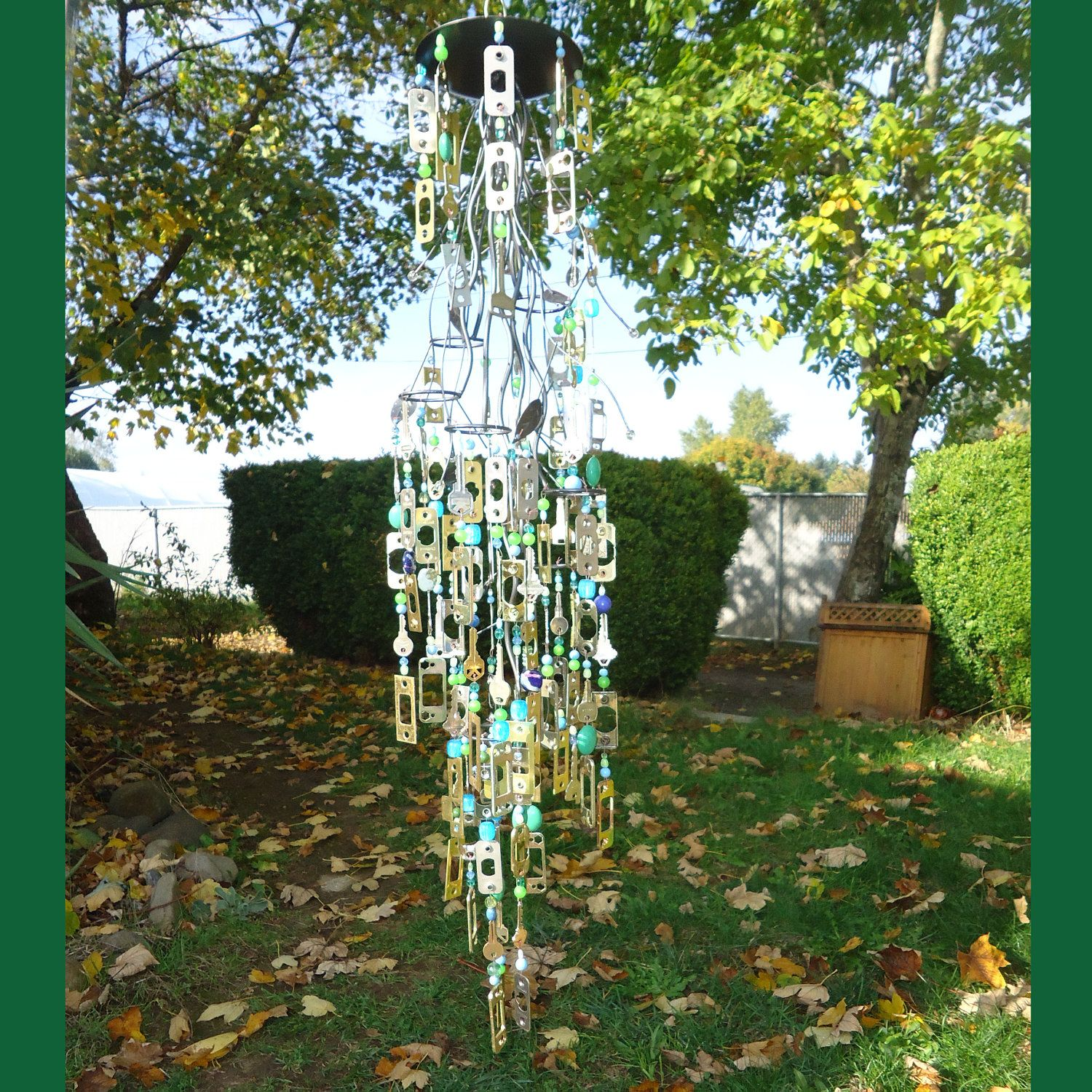 Amazing garden art from recycled materials ideas plan 3d for Wind chimes from recycled materials