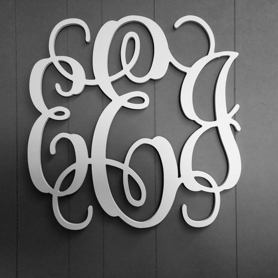 3 letter monogram 24 wedding guest book graduation present large wooden letters nusery d