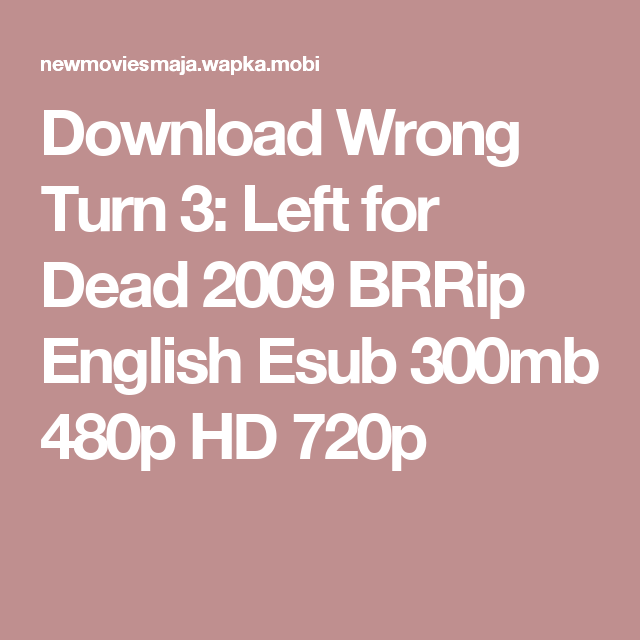 Download wrong turn 2 in hindi hd torrent