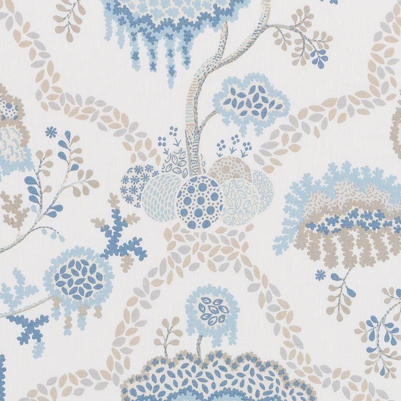 Duralee Lisboa Natural And Blue De42662 50 By Tilton Fenwick