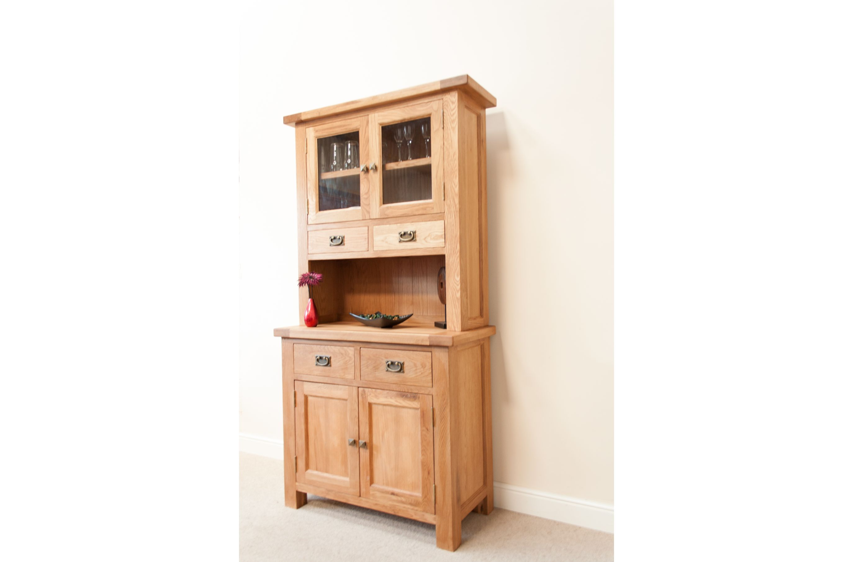 Hutch Display Cabinet Small Country Kitchen Hutches Country Oak Small Buffet Hutch