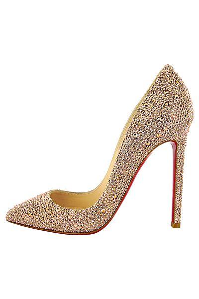 d6bb9b35558 Christian Louboutin - Women's Shoes - 2012 Fall-Winter   Gold shoes ...