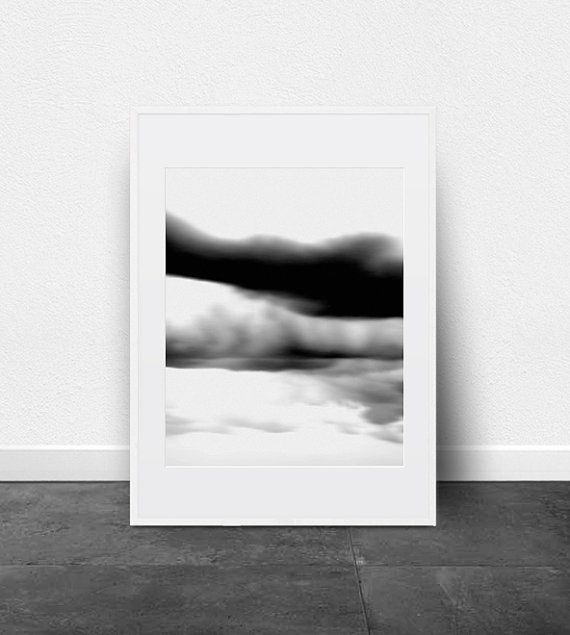 Black and White Abstract Wall Art Printable Wall Art Modern