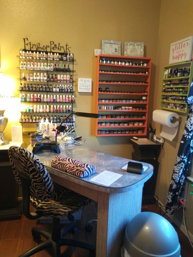Small Space Home Nail Salon Set Up Ideas Nail Technician Room Nail Station Set Up And Organization Ideas Home Nail Salon Nail Station Nail Salon Design