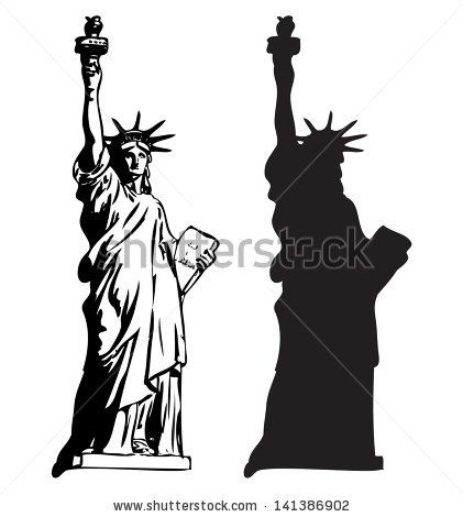 Statue Of Liberty Stock Photos Images Pictures Statue Of Liberty Drawing Silhouette Art Silhouette Vector