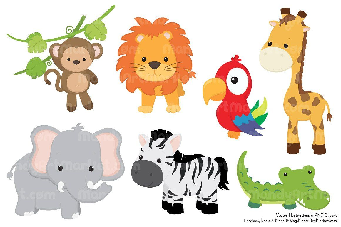 Cute Jungle Animal Clipart Baby Zoo Animals Animal Clipart Free Animal Clipart Cyclotis), and the asian elephant (elephas maximus). pinterest