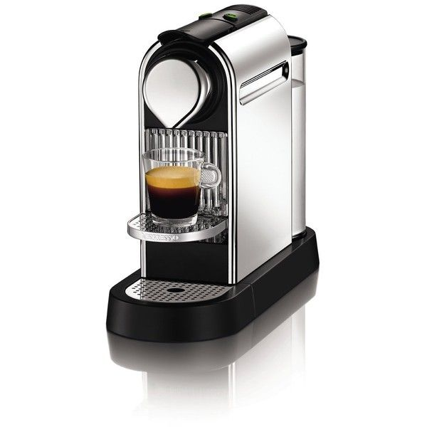 Nespresso Citiz C111 Espresso Maker, Chrome (1 675 SEK) ❤ liked on Polyvore featuring home, kitchen & dining, small appliances, nespresso espresso makers, nespresso espresso machine and nespresso