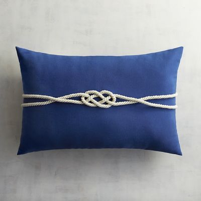 $25 on sale.  Cabana Cobalt Rope Lumbar Pillow | Pier 1 Imports