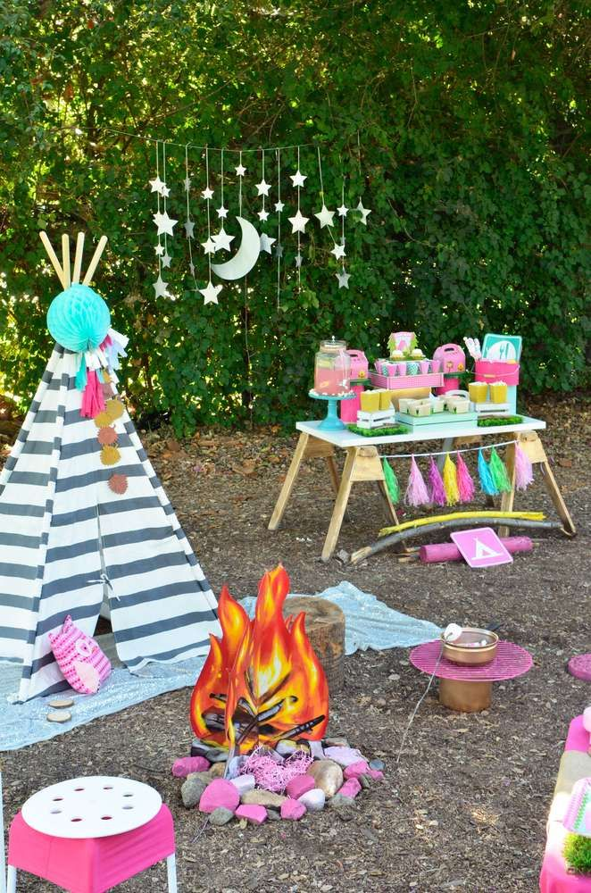 Camping Summer Camp Birthday Party Ideas
