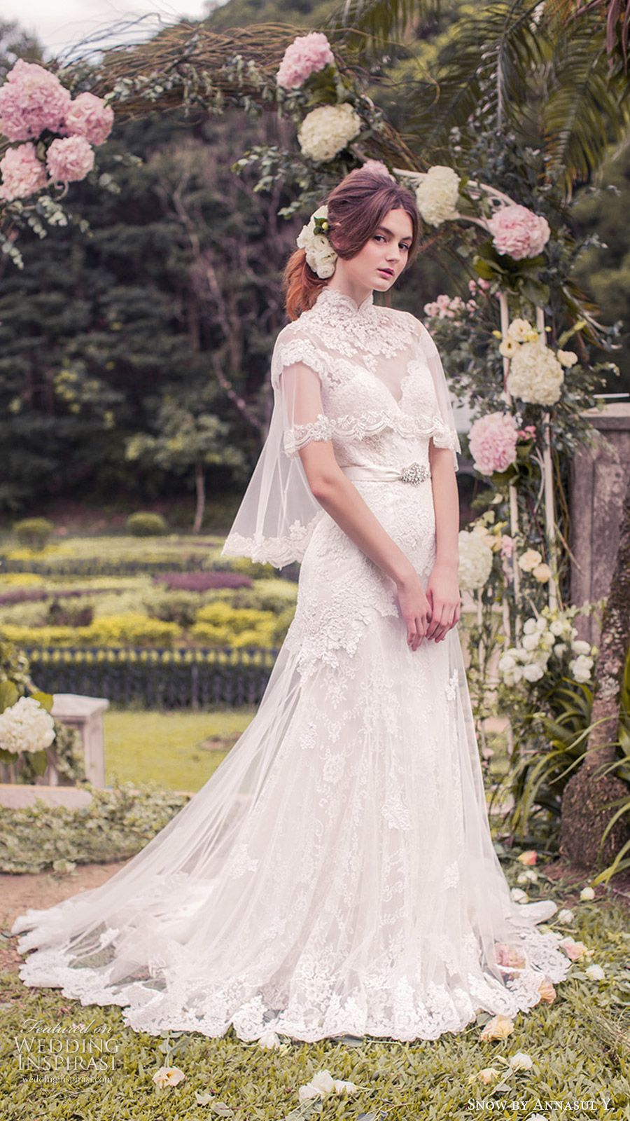 Diaphanous Tulle Trumpet Long Beads Cap Sleeves Ball Gowns