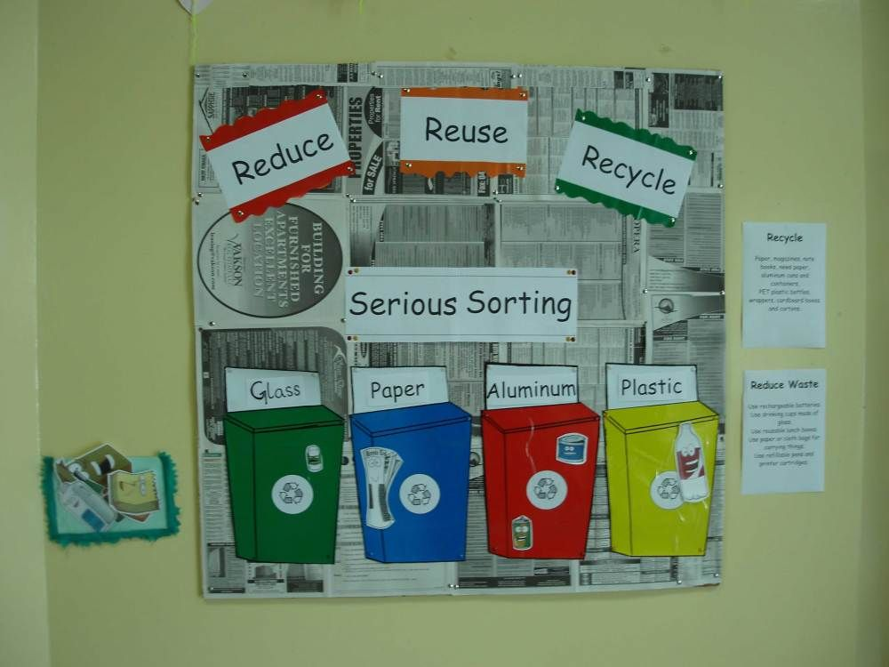 Bulletin board ideas reuse recycle reuse and glass for Recycle project ideas