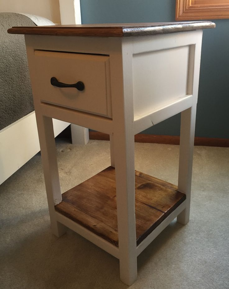 Farmhouse Nightstand, End Table Rustic furniture, Pine