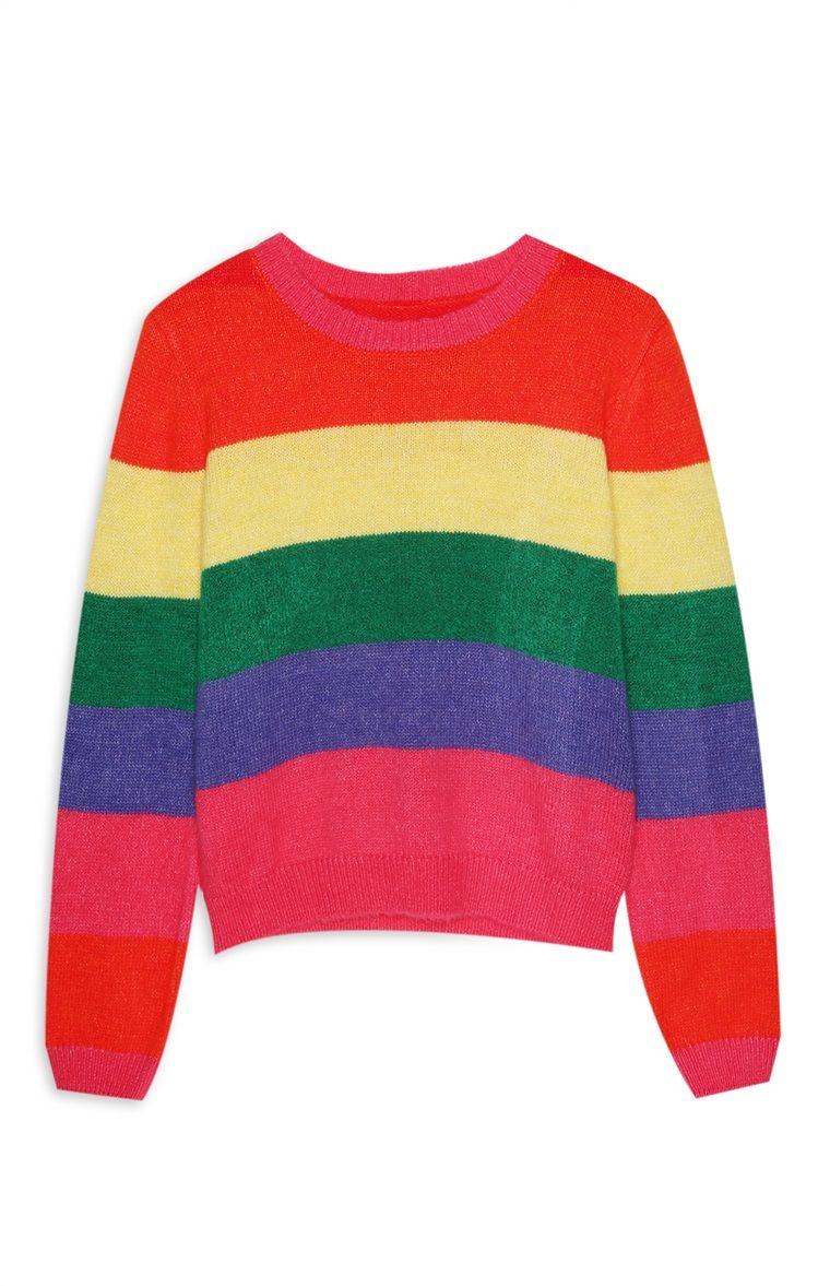 cbebb3608f0 Primark - Rainbow Colour Block Stripe Jumper | Needy in 2019 ...