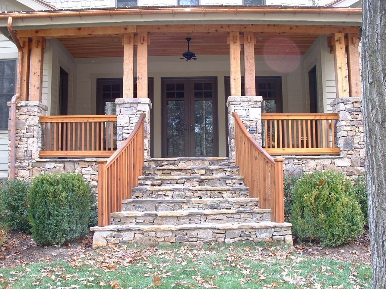 Best Custom Made Craftsman Double Post Beam And Railing Work Craftsman Porch Craftsman Home 640 x 480