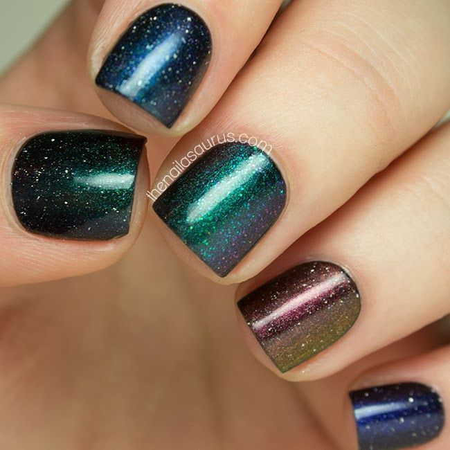 piCture pOlish LE collection ombre mani by The Nailasaurus WOWZA simply amazing!  Shop on-line: www.picturepolish.com.au