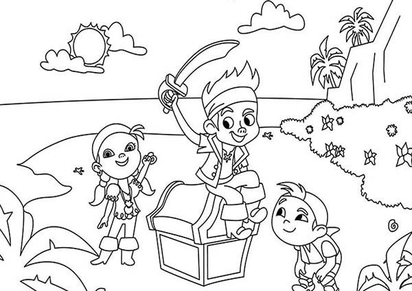 Jack and the neverland colouring pages party ideas for Jake and the pirates coloring pages