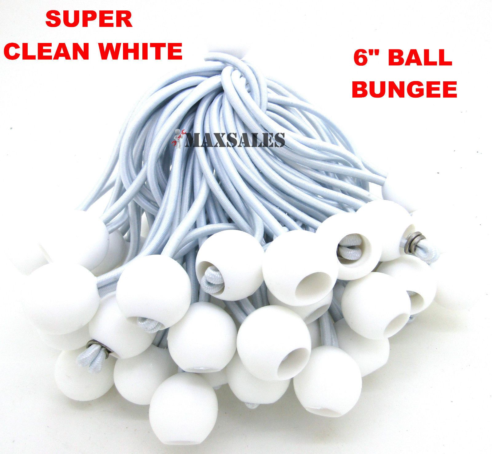 Tent and Canopy Accessories 36120 (100) 6 White Ball Bungee Cord Tarp Bungee  sc 1 st  Pinterest & Tent and Canopy Accessories 36120: (100) 6 White Ball Bungee Cord ...