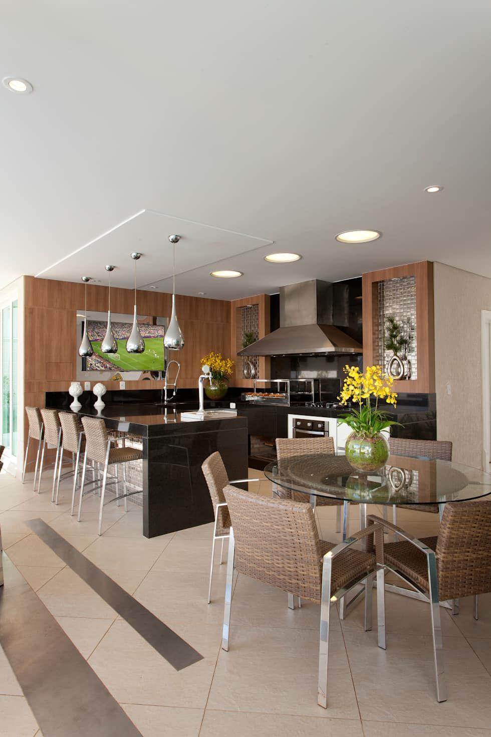 Casa Buriti: Casas Modernas Por Arquiteto Aquiles Nícolas Kílaris. Parrilla ArchitectsKitchensAt HomeFire ...