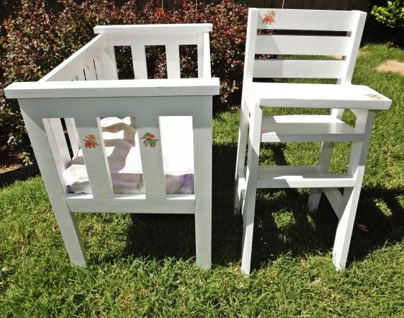 Doll Crib And High Chair Modified Do It Yourself Home