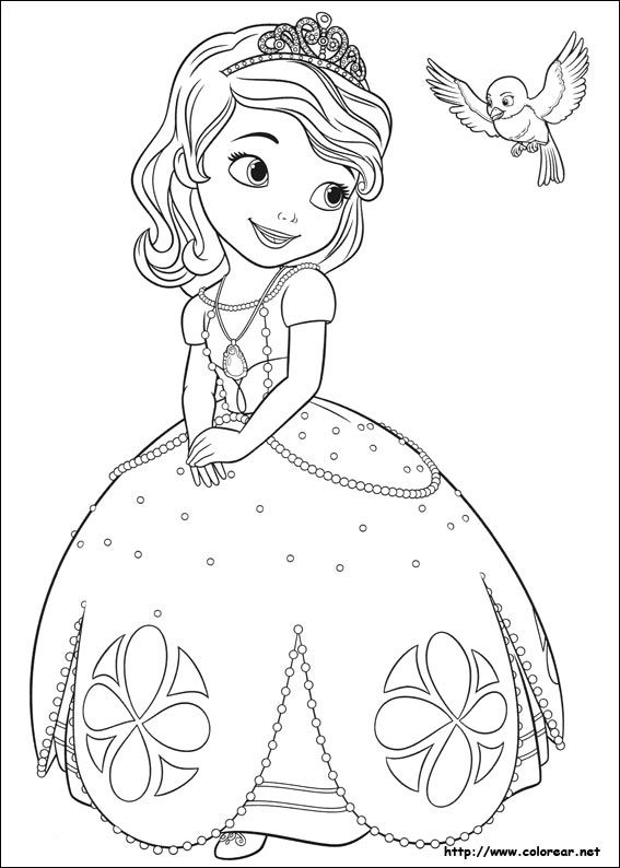 A La Princesa Sofia | Proyectos que intentar | Princess coloring